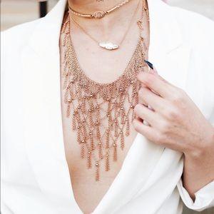 Kendra Scott rose gold Georgina necklace choker